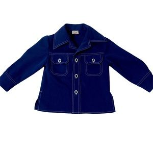 Sears vintage toddler polyester button up jacket